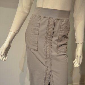 Cotton Slim Skirt